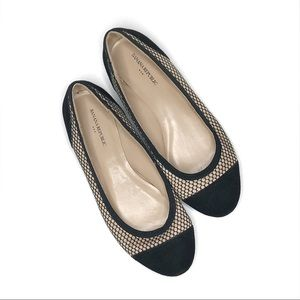 Banana Republic Factory Black Capped Toe Flats